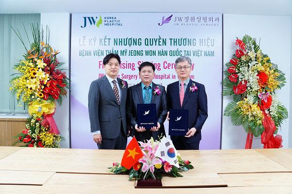 Lễ ký kết nhượng quyền thương hiệu JW