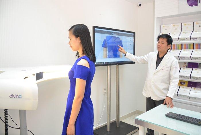 Máy 3D Divina được thực hiện trong nâng ngực nội soi xuất hiện tiên phong tại JW