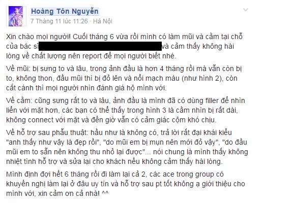 Nguyễn Hoàng Tôn nâng mũi hỏng