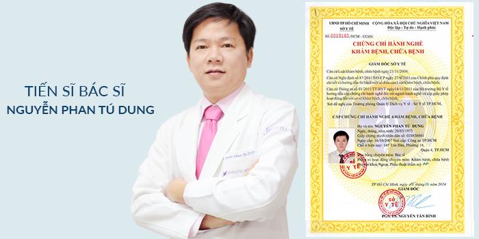 TS. BS. Nguyễn Phan Tú Dung đã được Bộ Y tế cấp giấy phép hoạt khám và chữa bệnh