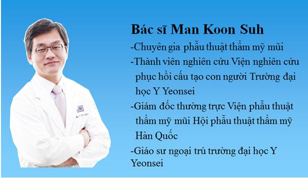 Tiểu sử của TS. BS. Man Koon Suh - Chuyên gia chỉnh hình mũi và nâng mũi hàng đầu tại Hàn Quốc