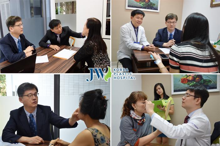 TS. BS. Man Koon Suh trực tiếp về JW hỗ trợ về chuyên môn và thực hiện sửa mũi dọc dừa cho khách hàng