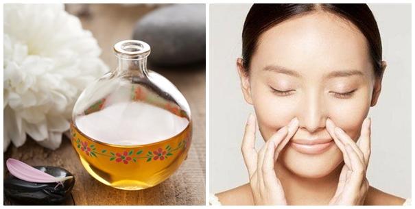 Sử dụng tinh dầu thiên nhiên để massage giúp mũi cao hơn