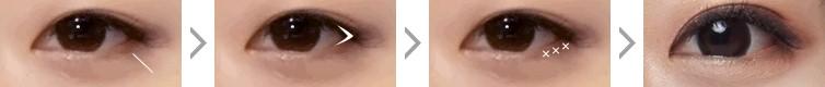 mở rộng gốc mắt ngoài