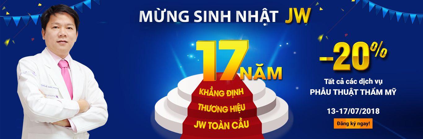 Banner sinh nhật bệnh viện JW 2018